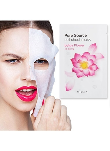 Missha Pure Source Cell Sheet Mask (Lotus) Renksiz
